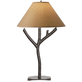 Rustic Woodland Table Lamp