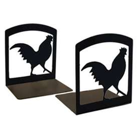 Wrought Iron Rooster Bookends
