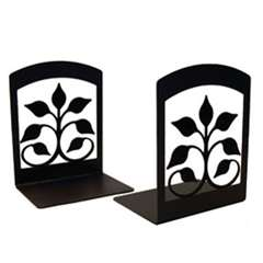 Wrought Iron Leaf Fan Bookends