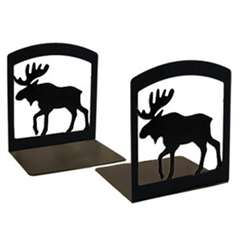 Wrought Iron Moose Bookends