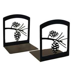 Wrought Iron Pine Cone Bookends