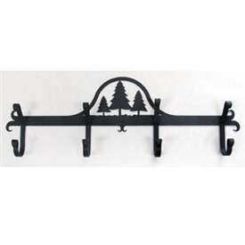 Wrought Iron Pine Trees Coat Rack