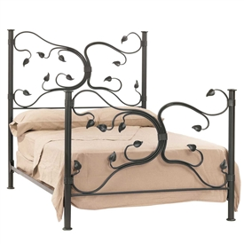 pictured here is the eden isle wrought iron bed available in 7 iron finishes and full