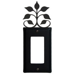 Wrought Iron Leaf Fan Single GFI Cover