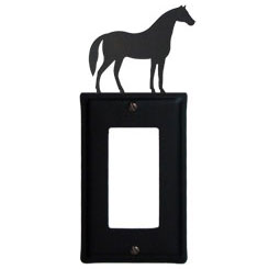 Wrought Iron Horse Single GFI