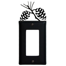 Wrought Iron Pine Cone Single GFI Cover