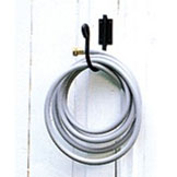 Pictured is our Wall Mounted Wrought Iron Hose Holder with hose.