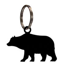 Wrought Iron Bear Key Chain