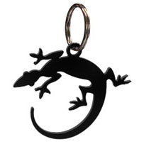 Wrought Iron Salamander Key Chain
