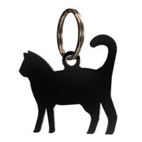 Wrought Iron Cat Key Chain
