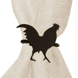 Wrought Iron Rooster Napkin Ring
