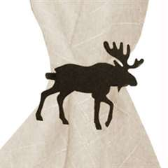 Wrought Iron Moose Napkin Ring