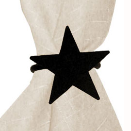 Wrought Iron Star Napkin Ring