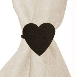 Wrought Iron Heart Napkin Ring