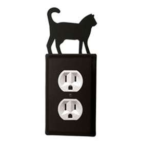 Wrought Iron Cat Outlet Cover