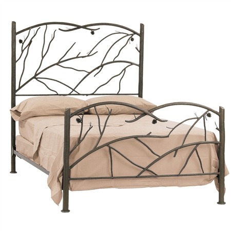 rustic pine bed - Wrought Iron Bed Frames