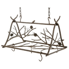 Rustic Pine Pot Rack