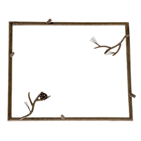 Wrought Iron Rustic Pine Wall Mirror By Stone County Ironworks