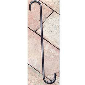 "Wrought Iron S-Hook - 10"" x 1"""