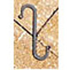 "Wrought Iron S-Hook - 3"" x 5/8"""