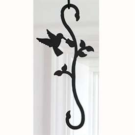Wrought Iron Humming Bird & Flower S-Hook