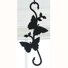Wrought Iron Butterfly S-Hook