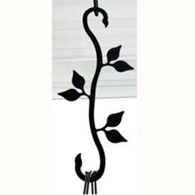 Wrought Iron Leaf S-Hook