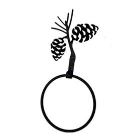Wrought Iron Pine Cone Towel Ring