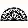 Wrought Iron Half Round Wall Art (Style 196)