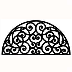 Wrought Iron Half Round Wall Art (Style 198)