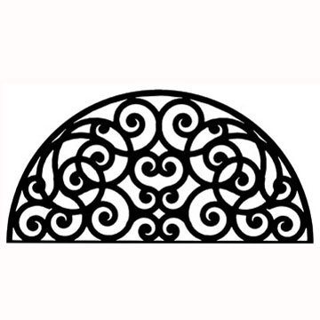 Wrought iron half round wall art style 198 for Style house professional styling iron price