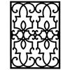 Wrought Iron Rectangular Wall Art (Style 199)