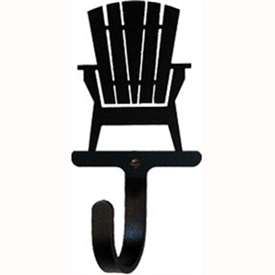"Wrought Iron Adirondack Chair Wall Hook (Hook Depth measures 1/2""D)"