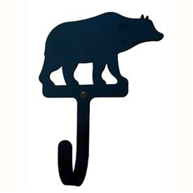 "Wrought Iron Bear Wall Hook (Hook Depth measures 1/2""D)"