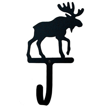 Wrought Iron Moose Wall Hook with mounting hardware - Available in 3 Sizes. Sold at Timeless Wrought iron.