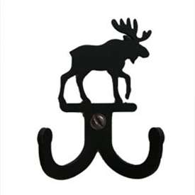 "Wrought Iron Moose Double Wall Hook (Hook Depth measures 1/2""D)"