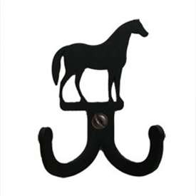 "Wrought Iron Horse Double Wall Hook (Hook Depth measures 1/2""D)"