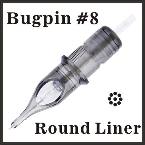 ELITE 3 Needle Cartridge Round Liner - Bugpin, AC1003BPRL