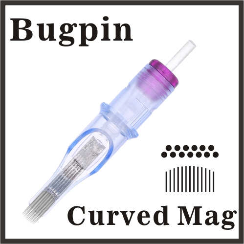 ELITE EVO Needle Cartridge Curved Magnum - Bugpin, BC1007BPCM