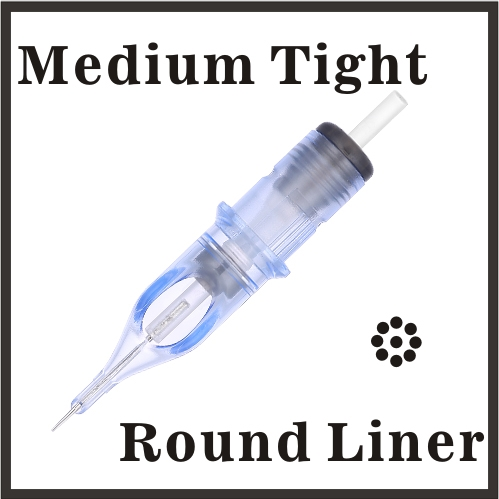 ELITE EVO Needle Cartridge Round Liner - Regular Tight - BC1207RLM