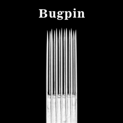 <!010> Box of 50 ELITE TATTOO NEEDLES - Bugpin Curved Magnum 0.30mm