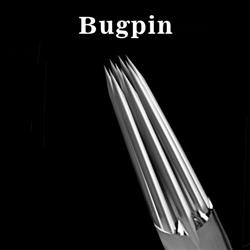 <!010>  Box of 50 ELITE TATTOO NEEDLES - Bugpin Round Liner  0.30mm