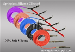 <!030>6 Feet Springless Silicone Clip Cord, 100% Soft Silicone ,5 Colors