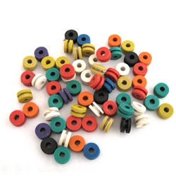 <!060>Doughnut Style Grommets,Mixed Color -BOX OF 100