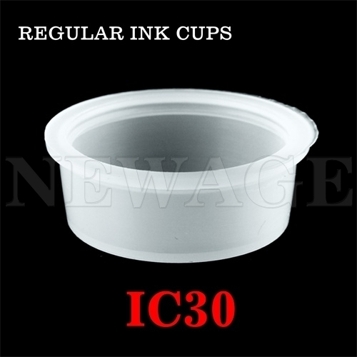 <!014>30mm X-Large Standard Clear Ink Cups -BAG OF 100