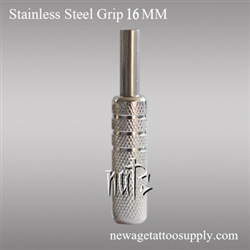 <!010> 16mm Pro-Design Stainless Steel Tattoo Grips A
