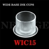 <!023>15mm  Medium Clear Wide Base Ink Cups -BAG OF 1000