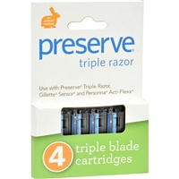 Preserve Triple Razor Replacement Blades- case of 24