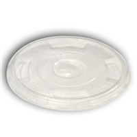 PLA Clear Flat Lid for 9, 12, 16, 20 oz PLA Cup- Case of 1000