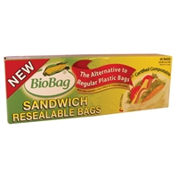 BioBag Resealable Sandwich Bags - Case or box